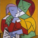 picasso two girls reading