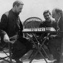 Vladimir Lenin plays chess with Alexander Bogdanov during a visit to Maxim Gorky 1908