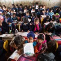 Overcrowded classes at Madanpur Khadar primary school